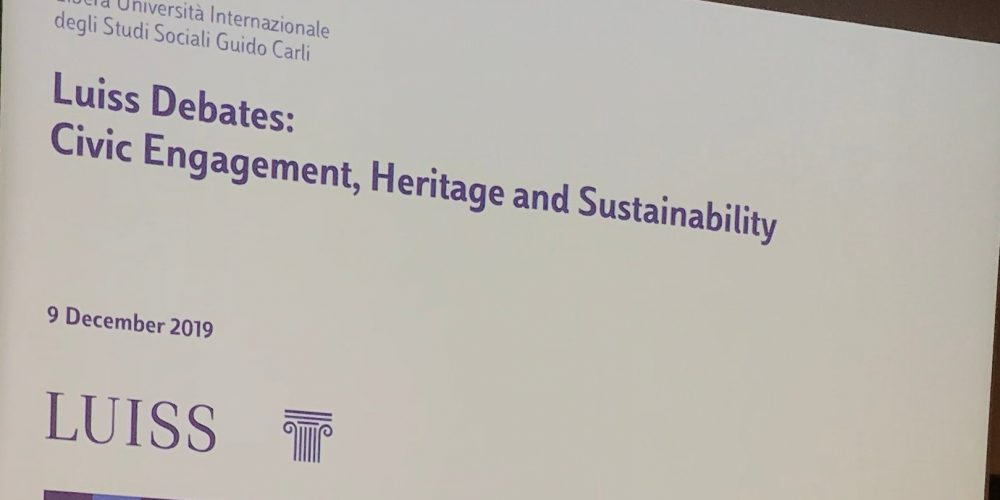 Luiss Debates: Civic Engagement, Heritage and Sustainability